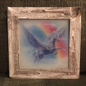 Vintage Carnival Mirror Pegasus Horse.